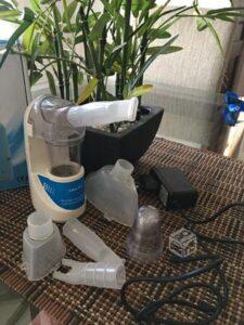 Qué componentes tiene un nebulizador
